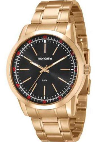 Relógio Masculino Analógico Mondaine Dourado 94985gpmvde2