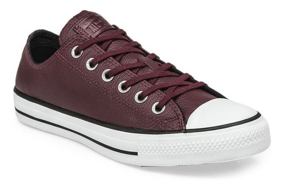 Zapatillas Converse All Star Bordo Cuero Vacuno