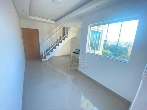 Cobertura Com 2 Dormitórios À Venda, 106 M² Por R$ 375.000,00 - Utinga - Santo André/sp - Co4635