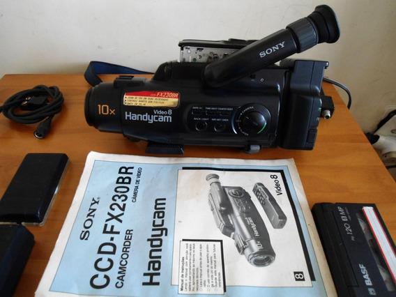 Filmadora Sony Handycam Video 8 Fx 230br Carregador E Manual