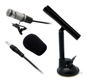 Microfone Yoga Lapela Condenser Unidirecional Sc 400 Suporte