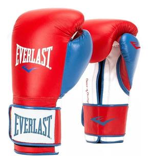 Guantes De Boxeo Everlast Powerlock Training Roj/azu 16oz