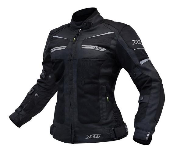 Jaqueta X11 Breeze Motociclista Moto Feminina Preto