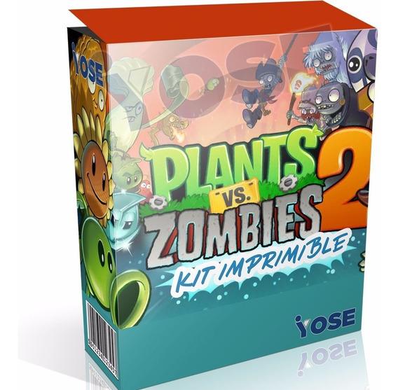 Kit Imprimible Plantas Vs Zombies 2 + ¡envío En El Acto!