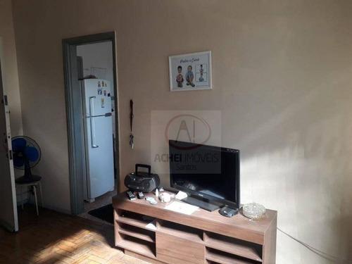 Imagem 1 de 19 de Apartamento Com 2 Dormitórios, Vaga De Garagem Suficiente , Espaço Para Motos E Bicicletas À Venda, 80 M² Por R$ 270.000 - Vila Matias - Santos/sp - Ap10771