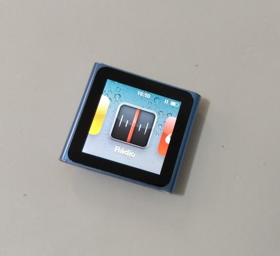 iPod Nano 6 Geração 8gb Azul Rádio Mp3 - Usado - Addvy