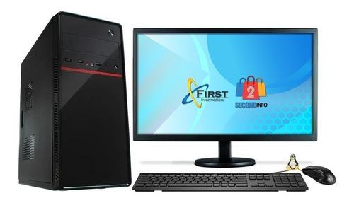Cpu Computador Completo Intel I3 8gb Hd 500gb Mon 19''hdmi