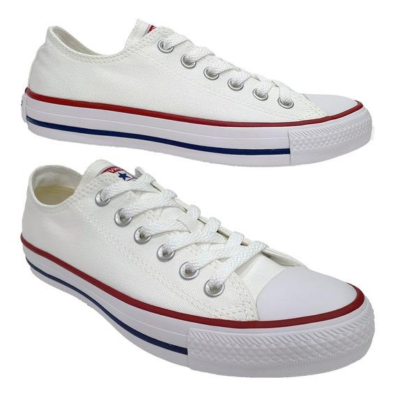 Tênis Converse All Star Clássico Branco Lona Casual
