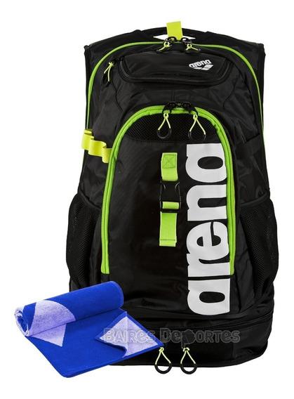 Mochila Arena Natación Fast Pack Fastpack + Toalla + Cuotas