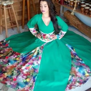 Vestido De Prenda Gaúcha