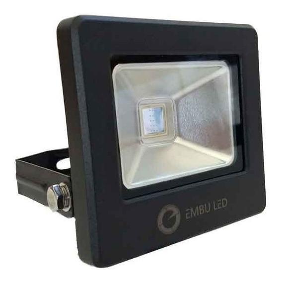Refletor Led Cob 30w 6000k Preto Ip67 - Embu Led