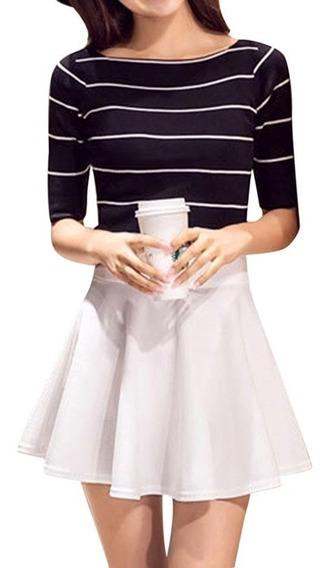 Mini Falda Cintura Alta Varios Colores