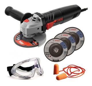 Esmerilhadeira Angular Skil 700w 03 Discos Bosch E Kit Epi