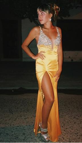 Vestido Elegante Fiesta Amarillo
