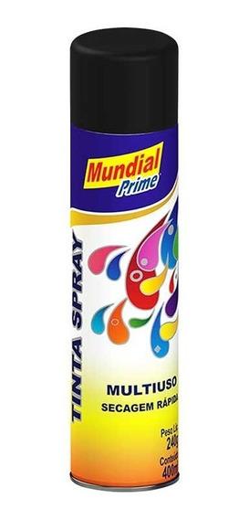 Tinta Spray Automotiva Uso Geral 400ml - Preto Brilhoso