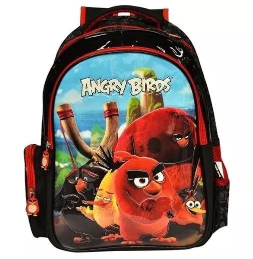 Mochila Costas Angry Birds Abm800401 +lancheira