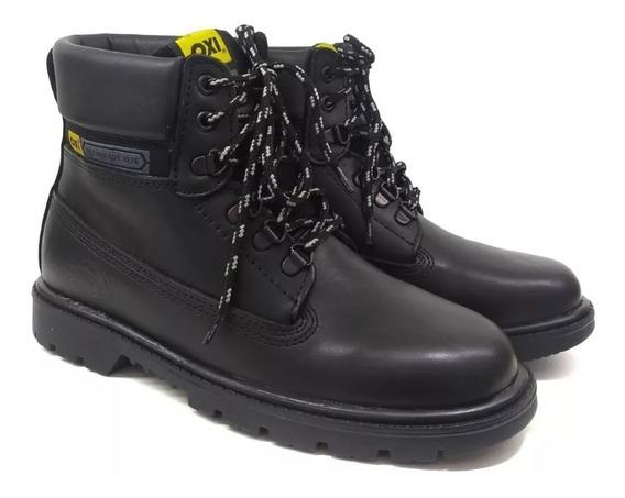 Zapato Hombre Botas Oxigeno De Cuero Y Suela Febo