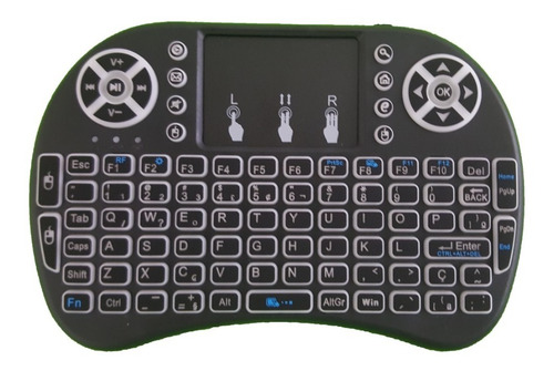 Teclado + Mouse Wireless S/ Fio Smart Tv LG Aoc Samsung Semp