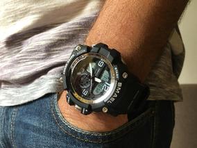 Relógio Smael Original Militar S-shock Masculino Semi-novo