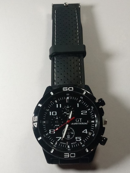 Relógio Masculino Gt Sport Preto Pulseira Silicone