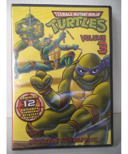 Tortugas Ninja Vol 3 Teenage Mutant Ninja  Dvd
