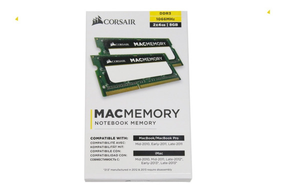 Memoria Ram 8 Gb 2 X 4 Ddr3 1066mhz Para Mac Mini
