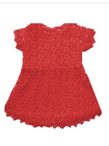 Vestido Menina Festa Rosa. Com Botão Costas