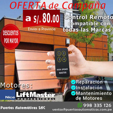 Venta Control Remoto Lift Master Puertas Seccional Levadiza