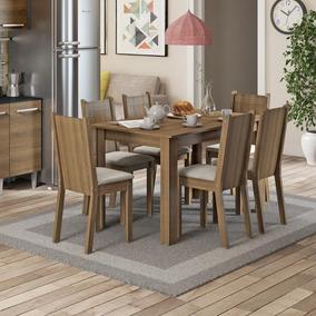 Conjunto Sala De Jantar Maris Madesa Mesa Com 6 Cadeiras