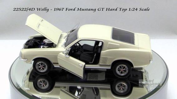 Ford Mustang Gt 1967 Esc 1 24 Welly Excelentes Detalles