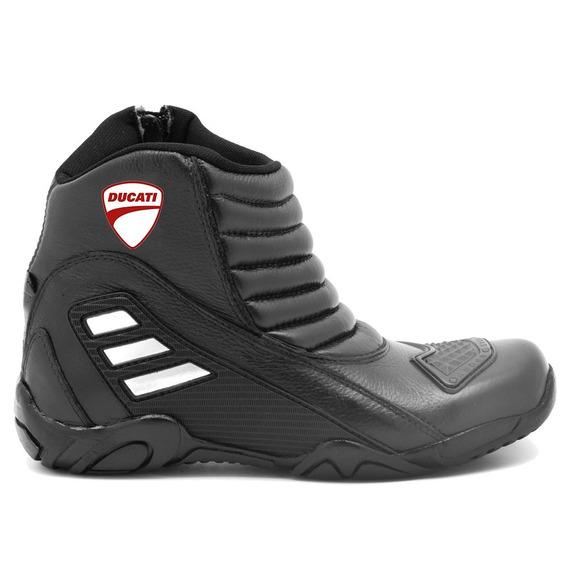 Bota Motociclista Masculina Em Couro Resistente Atron Shoes