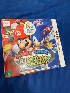 Mario E Sonic Rio 2016 Olympic Games Nintendo 3ds Lacrado