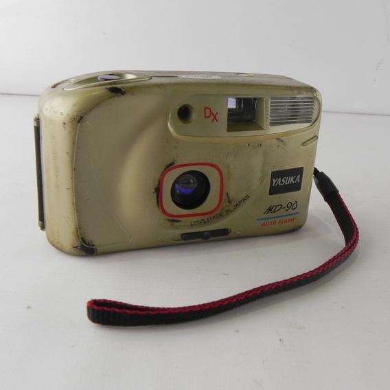 Câmera Analógica Yasuka Md-90 Dourado - Usado C/ Defeito