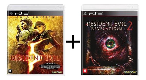 Combo Resident Evil 5 + Revelations 2 - Ps3 Novo - Física