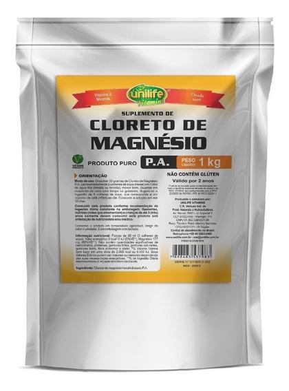 Cloreto De Magnésio Pa 1kg Original - Unilife