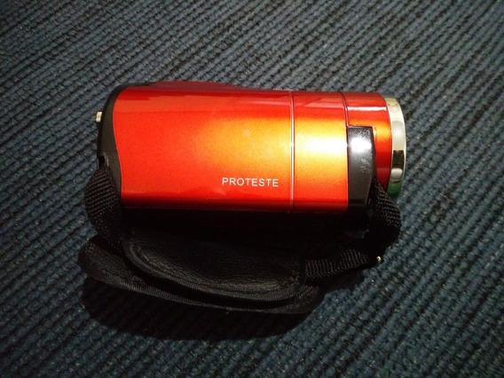 Mini Filmadora Digital Proteste Model 683 Vermelha