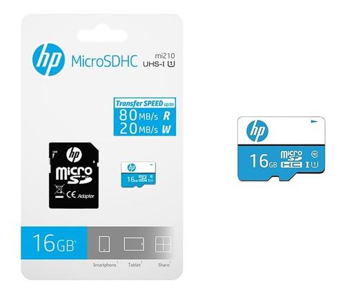 Imagen 1 de 6 de Memoria Micro Sd Hp 16gb Clase 10 U1 Original