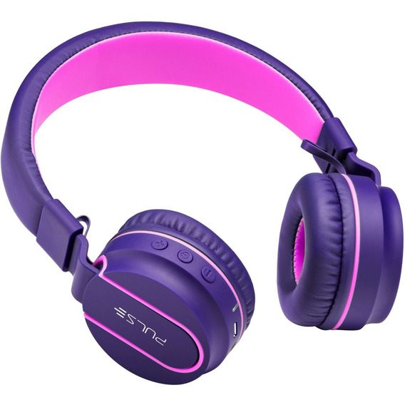 Headphone On Ear Bluetooth P2 Roxo E Rosa Ph217 Multilaser