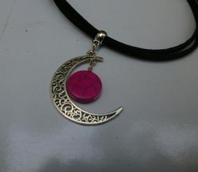 Colar/chocker Pink Moon Stone Feminino/alternativo