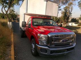Ford F-350 Modelo 2012 Motor 6.2 Color Rojo Con Caja Seca