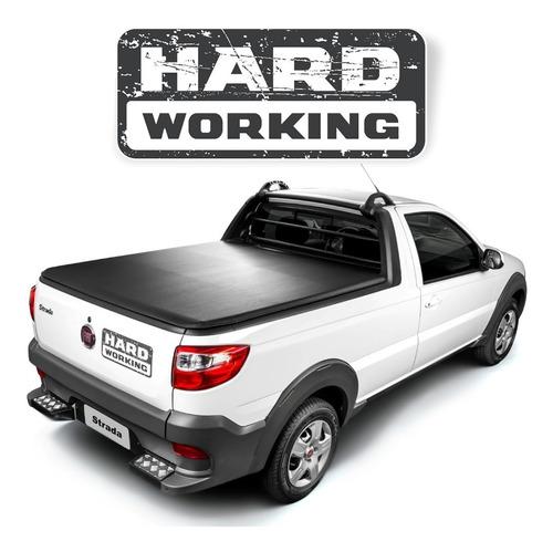 Kit Adesivo Fiat Strada Hard Working Tampa Traseira Strda46