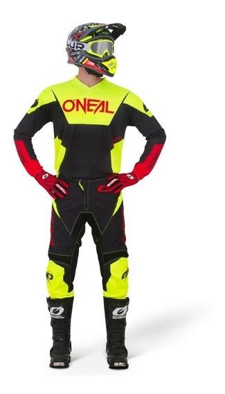 Kit Jersey Y Pantalón Oneal Element Racewear Neon