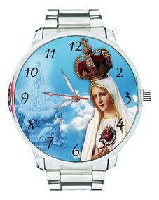 Relógio Nossa Senhora De Fátima Católica Virgem Maria Jesus