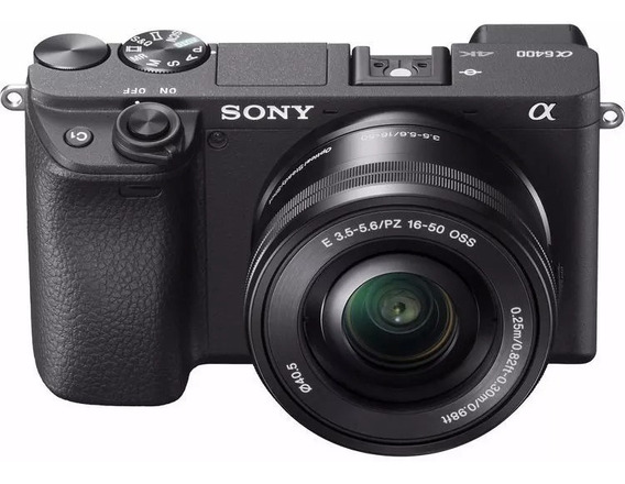 Câmera Nova Sony Alpha A6400 +16-50mm Nf-e Garantia Sony Br