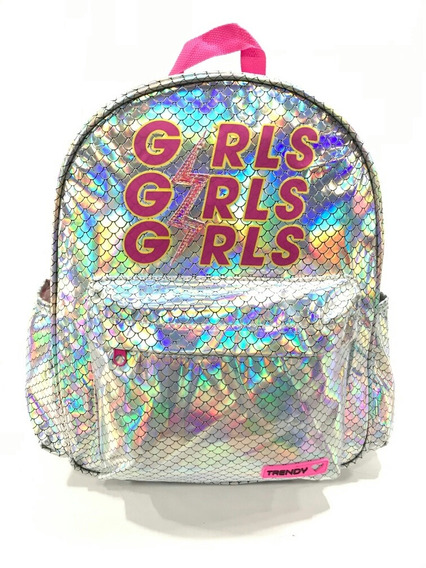 Mochila Holografica Girls Trendy Airon Local Munro