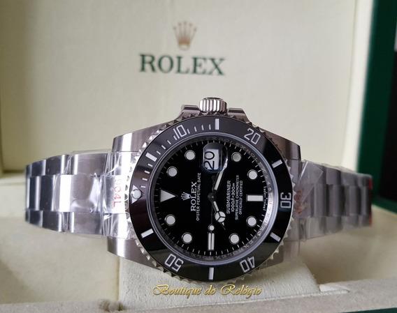 Relógio Eta Sa3135 - Modelo Submariner Dial Preto - Noob Best Edition V9 - Confeccionado Com Aço 904l - A Melhor Edição