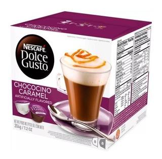 16 Cápsulas Chococino Caramel Dolcegusto Kit 1 Caixa C Frete