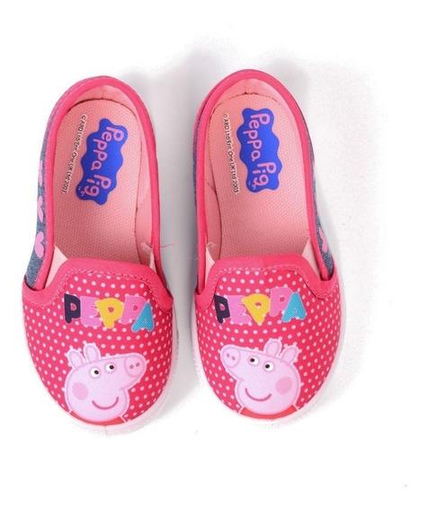Tenis Peppa Pig Para Niña Fiusha Con Estampado De Peppa Pig