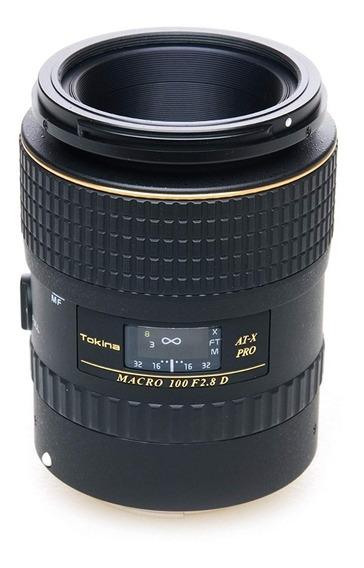 Lente Tokina At-x Macro 100mm F.2.8 Para Canon Ef Ef-s