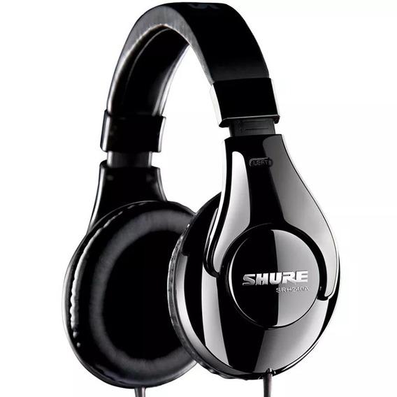 Fone De Ouvido Shure Original Headphone Srh240a Profissional